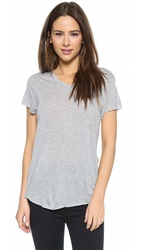 Zoe Karssen Loose Fit V Neck Tee Grey Heather