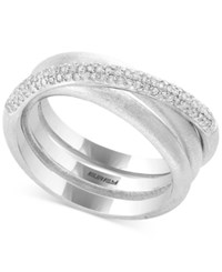Effy Balissima By Diamond Crisscross Statement Ring 1 3 Ct. T.W. In Sterling Silver