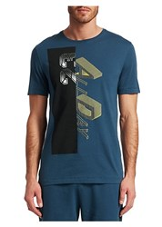 Saks Fifth Avenue Ad23 Graphic T Shirt Teal