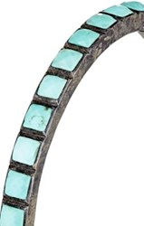 Nak Armstrong Women's Turquoise Tile Bangle Turquoise