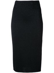 Laneus Classic Pencil Skirt Women Nylon Polyester Viscose 42 Black