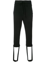 Christian Dada Drawstring Cropped Track Pants Black