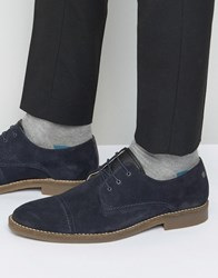 Jack And Jones Billy Suede Toe Cap Derby Shoes Navy