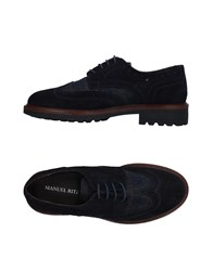 Manuel Ritz Footwear Lace Up Shoes Dark Blue