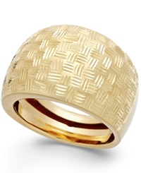 Macy's Woven Dome Ring In 14K Gold