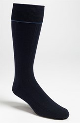 Nordstrom Men's Big And Tall Men's Shop Over The Calf Wool Socks Navy