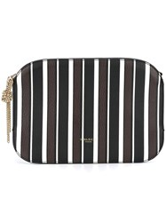 Nina Ricci Striped Clutch Black