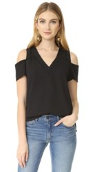 Cooper And Ella Sonia Cold Shoulder Top Black