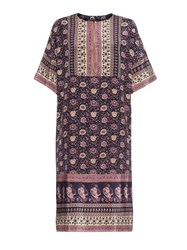 Sea Bohemian Print Silk Dress
