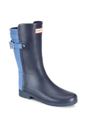 Hunter Original Refined Back Strap Short Two Tone Rubber Boots