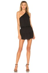 Krisa One Shoulder Ruffle Dress Black