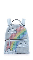 Les Petit Joueurs Mini Mick Rainbow Backpack Light Blue