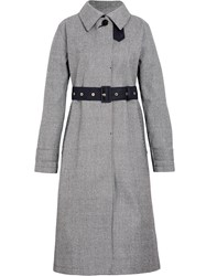 Mackintosh Houndstooth Bonded Wool Fly Fronted Trench Coat Lr