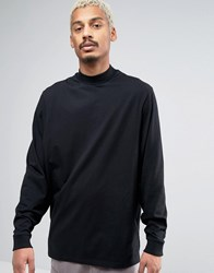 Asos Longline Long Sleeve T Shirt With Batwing Oversized Sleeve Black
