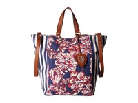 Tommy Bahama Reef Convertible Tote Tropical Flowers Tote Handbags Multi