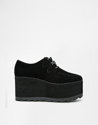 Yru Kreep Flatform Creeper Shoes Black