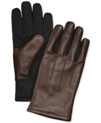 Fownes Ur Gloves Three Point Leather Back Stretch Tech Palm Gloves Brown