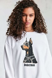 Urban Outfitters Dog Sweatshirt White