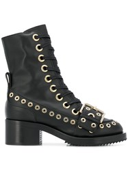 N 21 No21 Eyelet Detail Ankle Boots Black