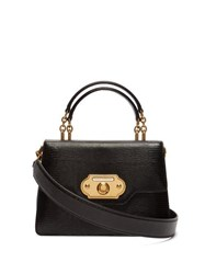 Dolce And Gabbana Welcome Iguana Effect Leather Bag Black
