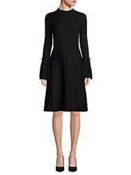 Saks Fifth Avenue Bell Sleeve Sweater Dress Black