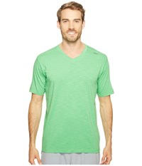 Tasc Performance Vital V Neck Fairway Slubbed Men's Workout Green