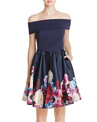 Ted Baker Nersi Off The Shoulder Dress Navy