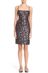 Marc By Marc Jacobs Leopard Print Sheath Dress Pink