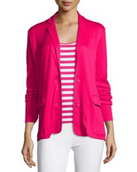 Joan Vass Knit Two Button Jacket Azalea
