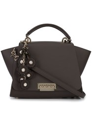 Zac Posen Front Flap Backpack Women Calf Leather Metal One Size Brown