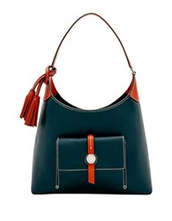 Dooney And Bourke Cambridge Small Leather Hobo Midnight Blue