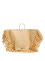 Jacquemus Le Grand Baci Woven Straw Bag Beige