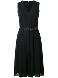 Akris Wrap Front Dress Black