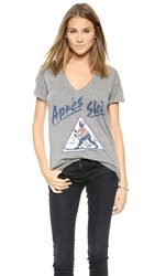 Sol Angeles Apres Ski V Neck Tee Heather