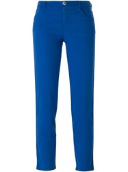 Armani Jeans Cropped Skinny Fit Jeans Blue