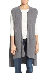 Halogenr Women's Halogen Knit Zip Vest Grey Dark Heather