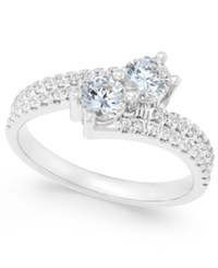 Macy's Diamond Two Stone Engagement Ring 1 Ct. T.W. In 14K Gold Or 14K White Gold