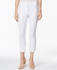 Charter Club Straight Leg Cropped Pants Bright White