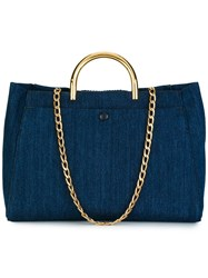 Stella Mccartney 'Nina' Denim Tote Bag Blue