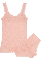 Hanky Panky Signature Stretch Lace Camisole And Boy Shorts Set