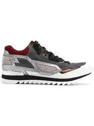 Les Hommes Panelled Running Sneakers Multicolour
