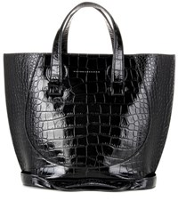 Victoria Beckham Small Tulip Embossed Leather Tote Black