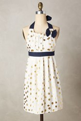 Anthropologie Gold Polka Dotted Apron