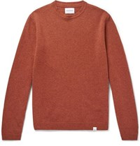Norse Projects Sigfried Brushed Wool Sweater Orange