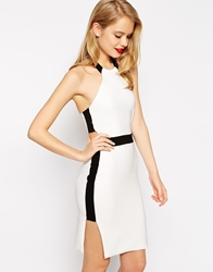 Asos Halter Cut Out Pencil Mono