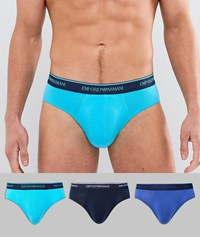Emporio Armani 3 Pack Briefs In Multi 12483