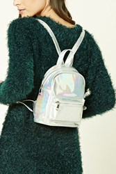 Forever 21 Holographic Mini Backpack Silver Multi