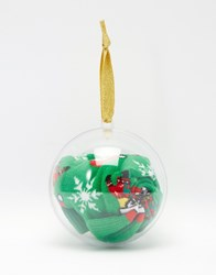 Asos Minion Socks In Christmas Bauble Green