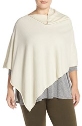 Plus Size Women's Eileen Fisher Cashmere Poncho White Soft White