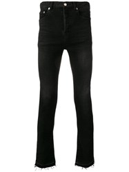 Saint Laurent Raw Edge Skinny Jeans Black